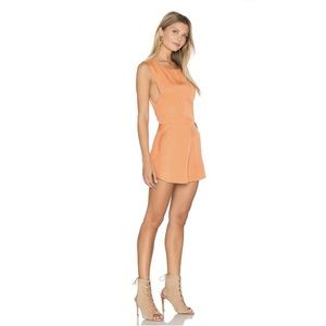 Finders Keepers The Prelude Romper in Burnt Peach
